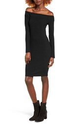 Socialite Women's Off The Shoulder Rib Knit Dress