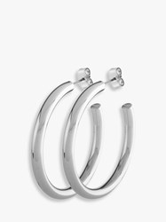 Dyrberg Kern Rotundum Hoop Earrings Silver