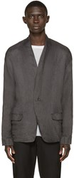Isabel Benenato Grey Knit Panel Blazer
