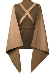 Nehera Braced Cape Coat Brown