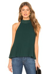 1.State Halter Tie Pleated Blouse Green