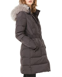 Phase Eight Kalyn Faux Fur Trim Puffer Coat Slate