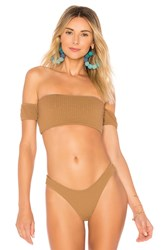 Bettinis Off The Shoulder Tube Top Brown
