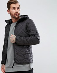 G Star Edla Quilted Hooded Jacket Black