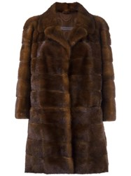 Simonetta Ravizza 'Barcellona' Coat Brown