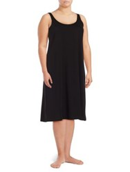 Lord And Taylor Plus Long Cotton Chemise Black