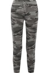 Splendid Camouflage Print Terry Track Pants Army Green