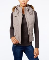 American Rag Faux Fur Trim Hooded Puffer Vest Only At Macy's Cinder