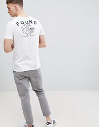 Stradivarius T Shirt In White With Wave Back Print