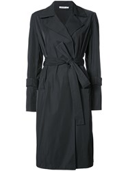 Protagonist Fitted Trench Coat Women Silk Polyester 8 Black