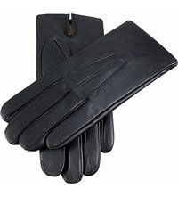 Dents Cashmere Lined Leather Gloves Black