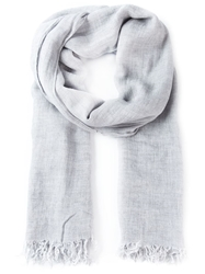 Vince Fringed Scarf Grey