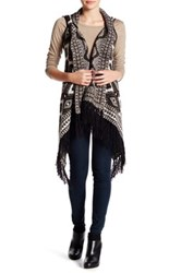 Romeo And Juliet Couture Long Fringe Vest Green