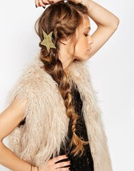 Orelia Star Glitter Hair Clip Multi Gold
