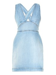 Stella Mccartney Anne Cross Back Denim Dress