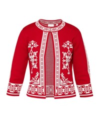 Ted Baker Roiley Scarlet Jacquard Cardigan Cherry