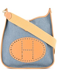 Hermes Vintage Evelyne Gm Shoulder Bag Blue