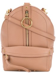 See By Chloe Mino Mini Backpack Nude And Neutrals