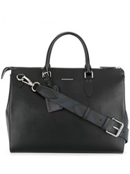 Burberry Large London Leather Briefcase Black