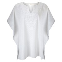 East Embroidered Kaftan Top White