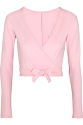 Ballet Beautiful Belle Stretch Jersey Wrap Top Pastel Pink