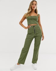 Capulet Keeley High Waisted Check Trousers Green