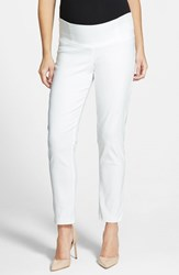 Women's Japanese Weekend Slim Fit Maternity Ankle Pants White