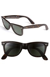 Men's Ray Ban 'Classic Wayfarer' 50Mm Sunglasses Dark Tortoise Green