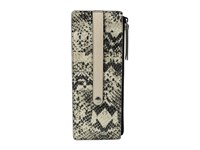 Lodis Kate Exotic Credit Card W Zipper Pocket Black Taupe Credit Card Wallet