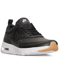 Nike Women's Air Max Thea Premium Running Sneakers From Finish Line Black Black Gum Yellow Wh