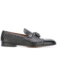 Doucal's Interlaced Tassel Loafers Black