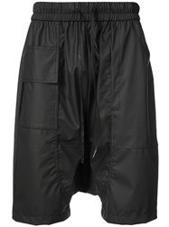 Private Stock Drop Crotch Drawstring Shorts Black