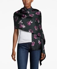 Kate Spade New York Rose Symphony Silk Oblong Scarf Black