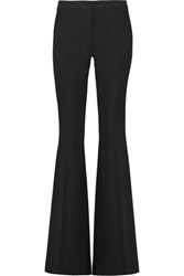 Michael Kors Collection Stretch Wool Twill Wide Leg Pants Black