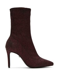 Schutz S0172302860007 Wine Leather Fur Exotic Skins Leather Black