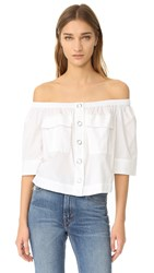 Free People Head Over Heels Blouse White