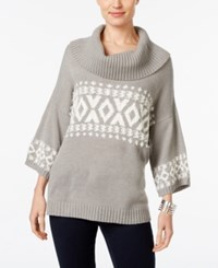 Styleandco. Style Co. Fair Isle Cowl Neck Sweater Only At Macy's Bold Heather Grey