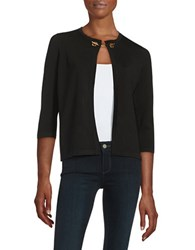 Ivanka Trump Toggle Accented Cardigan Black