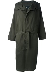 Y's Oversized Trench Coat Green