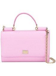 Dolce And Gabbana Mini Von Wallet Crossbody Bag Pink Purple