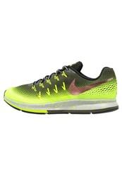 Nike Performance Air Zoom Pegasus 33 Shield Neutral Running Shoes Cargo Khaki Metallic Red Bronze Volt Black Wolf Grey Oliv