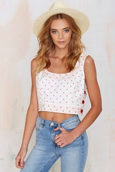 Nasty Gal Vintage Albert Nipon Got Dot Crop Top