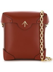 Manu Atelier Mini Pristine Bag Brown