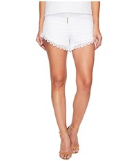 Kensie Eyelet Dots Shorts Ks4k1184 White Women's Shorts