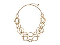 The Sak Link Double Layer Necklace 18 Gold Necklace