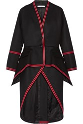 Givenchy Military Melton Wool Blend Twill Coat