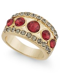 Inc International Concepts Gold Tone Pave Red Stone Ring Only At Macy's