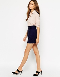 Whistles Shorts In Linen Blend Navy