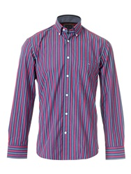 Eden Park Three Tone Striped Shirt Multi Coloured