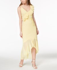 Disney Princess Juniors' Ruffled One Shoulder Dress Sunlight
